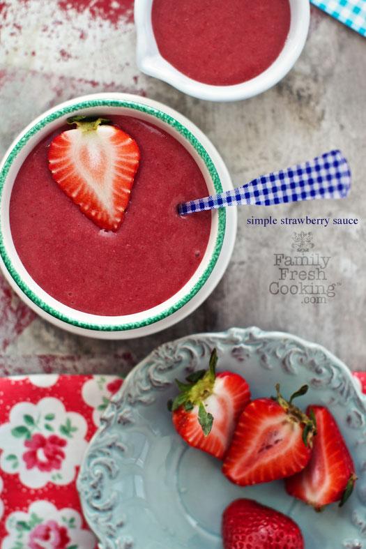 salsa de fresas