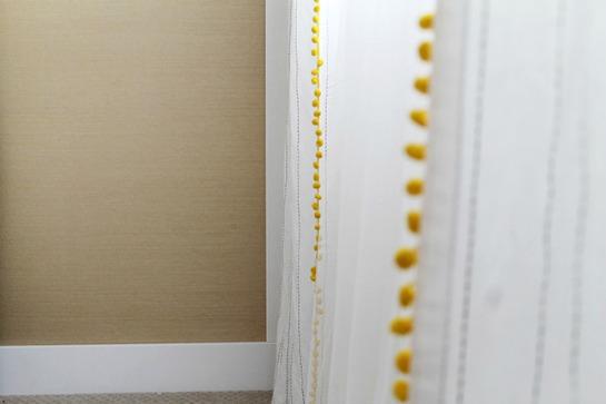 cortinas con pompones