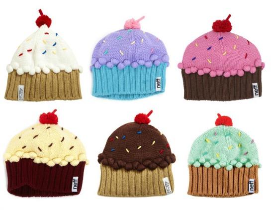 gorros con forma de cupcakes