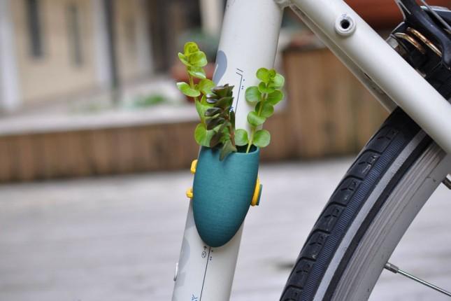 macetero para la bici