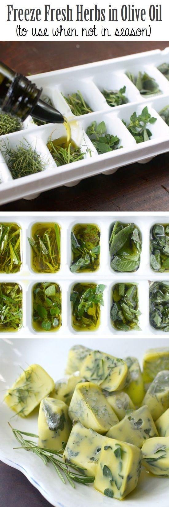 hierbas aromáticas en aceite